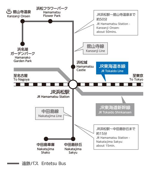 【伊豆箱根巴士 ,东海巴士线路图 】